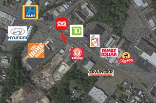12,500sf Prime Retail & Rear Warehouse